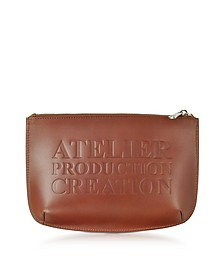 Atelier Marron Leather Pochette - A.P.C.