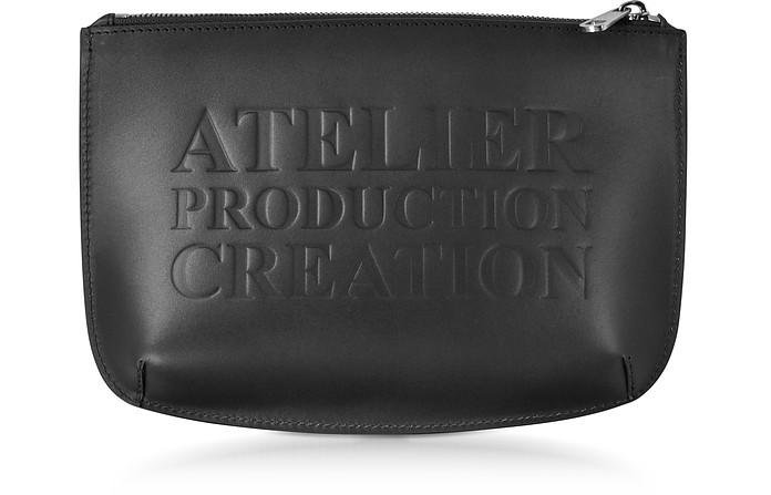 Atelier Noir Leather Pochette - A.P.C.