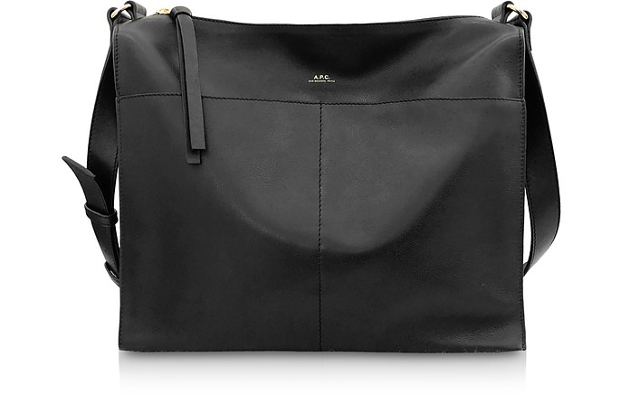 Suzanne Zip-Top Leather Shoulder Bag - A.P.C.