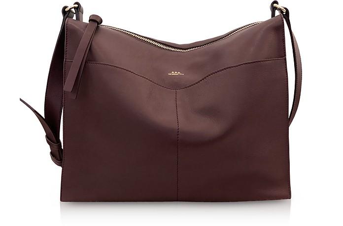 Suzanne Zip-Top Leather Shoulder Bag - A.P.C.