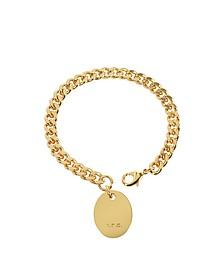 Hannaelle Chain Bracelet w/Oval Charm - A.P.C.