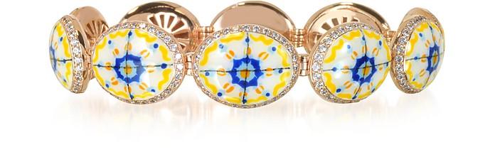 Capri Silver, Zircon and Enamel Bracelet - Azhar
