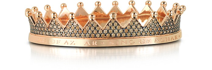Regno Silver and Zircon Crown Bracelet - Azhar