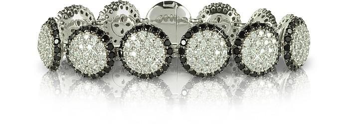 Armband aus Silber mit zweifarbigen Edelsteinen - Azhar