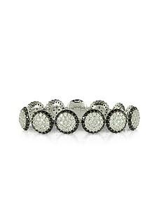 Two Tone Cubic Zirconia & Sterling Silver Bracelet - Azhar