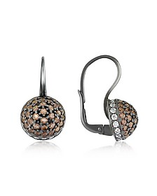 Cubic Zirconia and Sterling Silver Round Earrings - Azhar