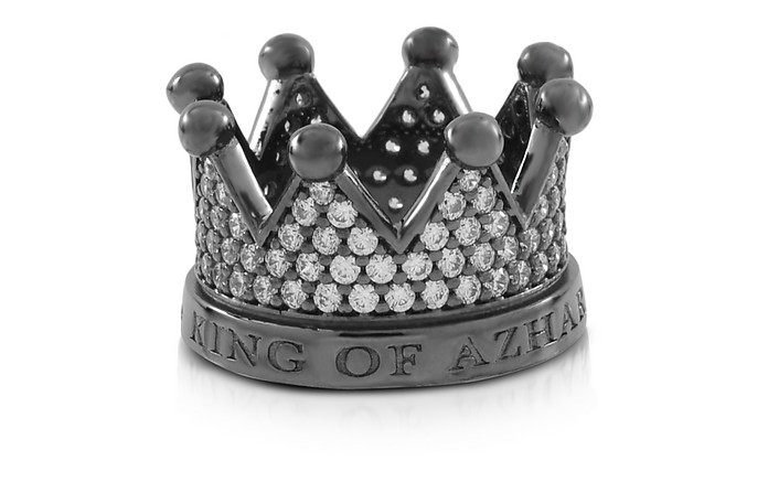 Re Silver and Zircon Crown Ring - Azhar