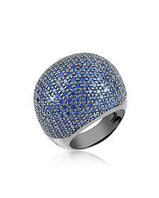 Blue Cubic Zirconia Fashion Ring - Azhar