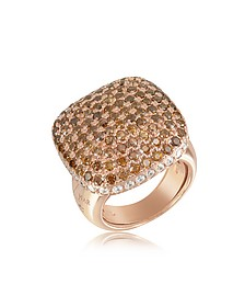 Cubic Zirconia Sterling Silver Square Cocktail Ring - Azhar