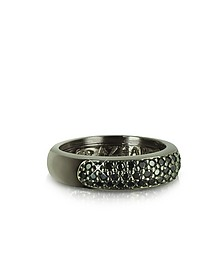 Black Cubic Zirconia & Sterling Silver Ring - Azhar