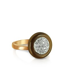 Ring aus Silber - vergoldet in Rosa mit Zirkonen - Azhar