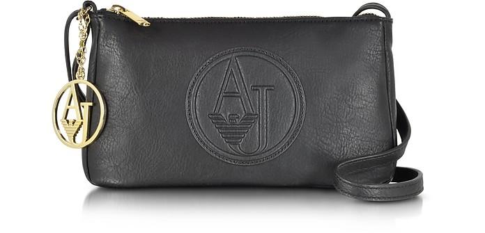 b30c9f1000e Armani Jeans Black Faux Leather Mini Crossbody Bag at FORZIERI