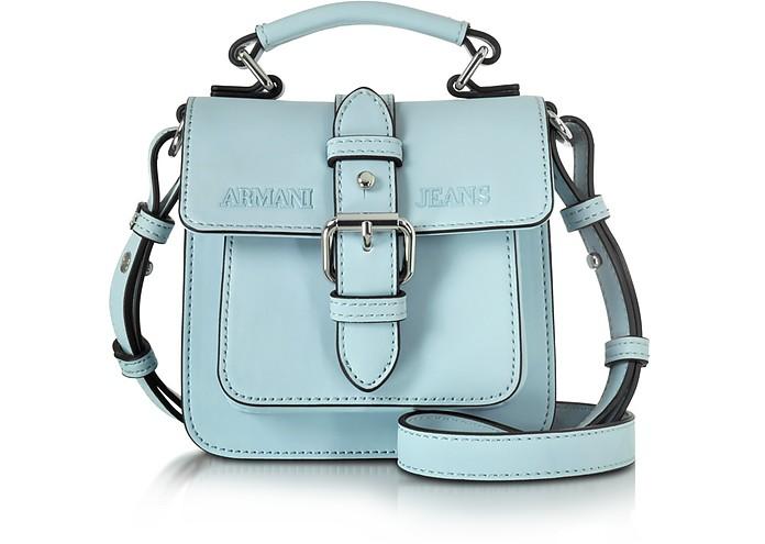 New Light Blue Eco Leather Crossbody Bag - Armani Jeans