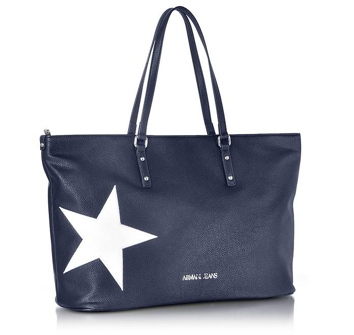 Armani Jeans Borsa Shopping Donna Tessuto Blu Navy I2s0NqFr