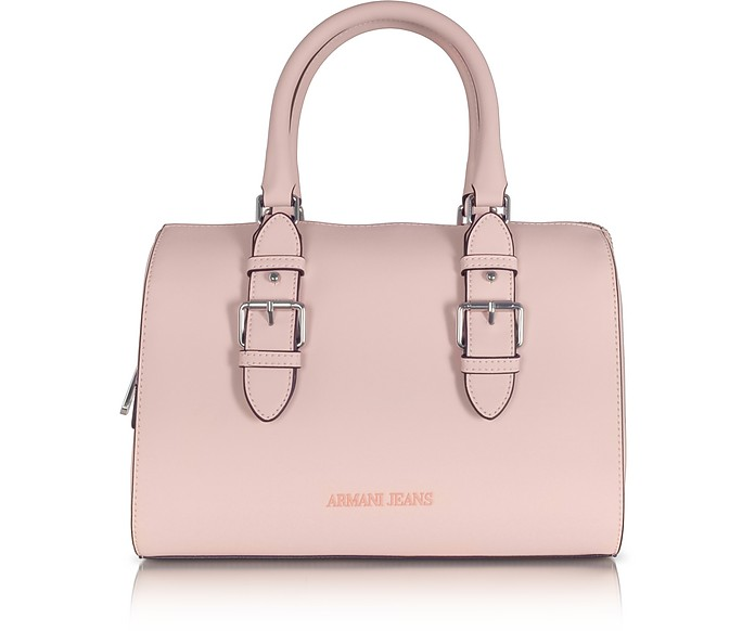 Armani Jeans New Light Pink Eco Leather Satchel Bag at FORZIERI ... c911bf2d5eddf