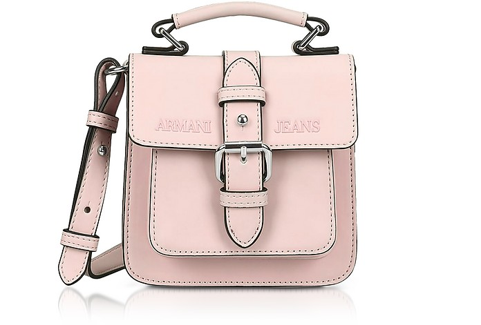 Armani Jeans New Light Pink Eco Leather Crossbody Bag at FORZIERI ... e19960e0ec0b3