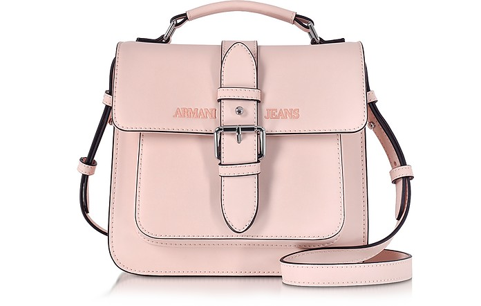 Armani Jeans Pale Pink Signature Eco Leather Square Crossbody Bag at ... c3698846c7880