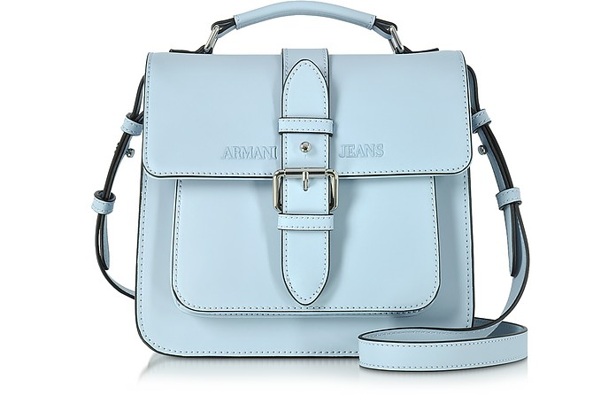 Armani Jeans Pale Blue Signature Eco Leather Square Crossbody Bag at ... 1be49eff44131