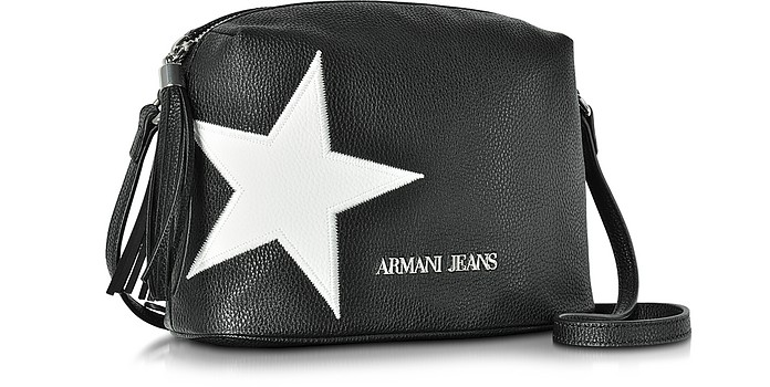 88b719983975 Armani Jeans White Star Small Crossbody Bag at FORZIERI