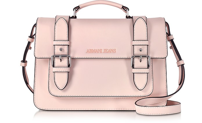 Armani Jeans Pale Pink Eco Leather Medium Crossbody Bag at FORZIERI dd4c6aa2453e8