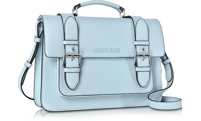 Armani Jeans Pale Blue Eco Leather Medium Crossbody Bag at FORZIERI UK cbd33a52aee77