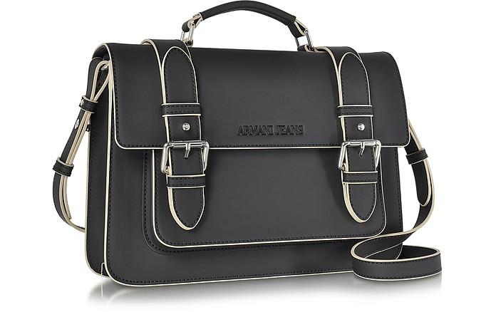 822400df3d0 Armani Jeans Black Eco Leather Medium Crossbody Bag at FORZIERI UK