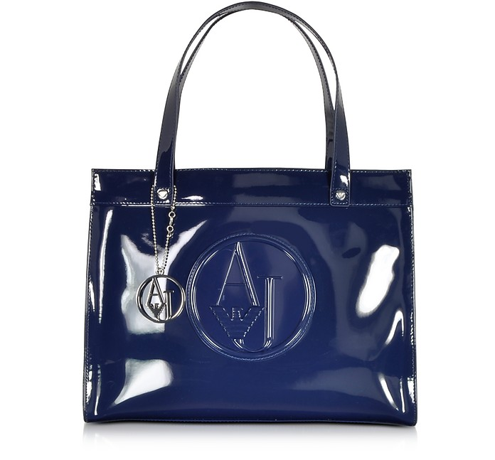 Patent Eco Leather Tote - Armani Jeans