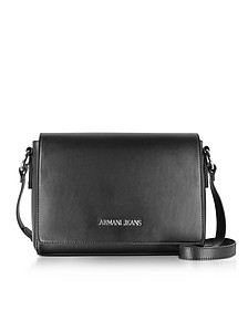 Black Medium Signature Shoulder Bag - Armani Jeans