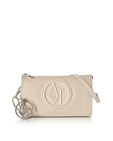 Beige Faux Patent Leather Mini Crossbody Bag - Armani Jeans