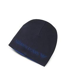 Solid Wool Blend Men's Beanie Hat  - Armani Jeans