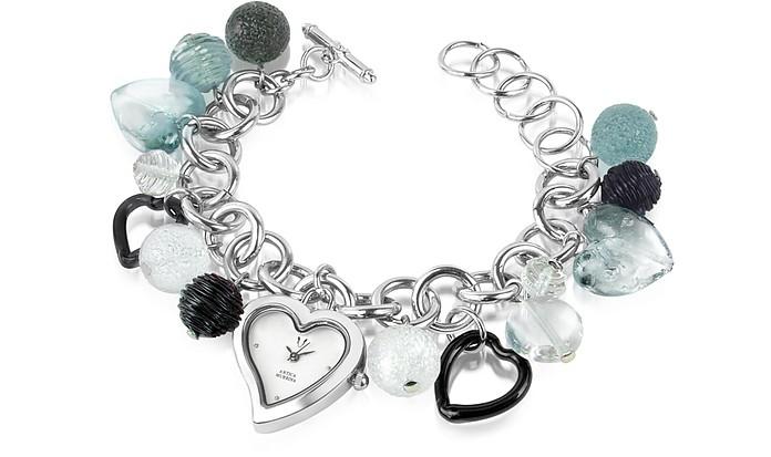 Stardust - Murano Glass Heart Charm Bracelet Watch - Antica Murrina