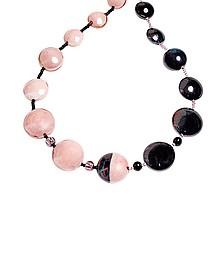 Audrey 2 Color Block Murano Glass Necklace - Antica Murrina