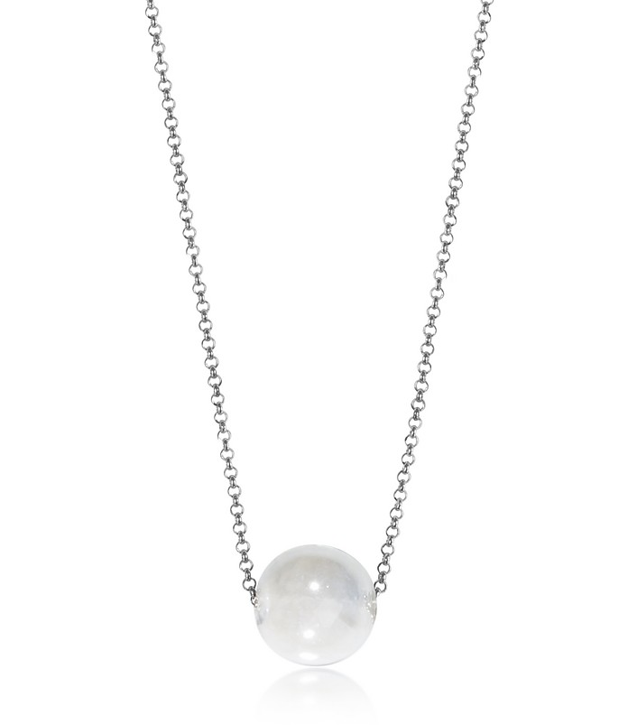 Perleadi White Murano Glass Bead Chain Necklace - Antica Murrina