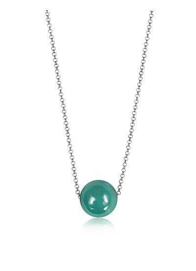 Perleadi Turquoise Murano Glass Bead Chain Necklace - Antica Murrina