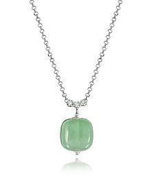 Florinda Green Murano Glass Sterling Silver Necklace - Antica Murrina Veneziana