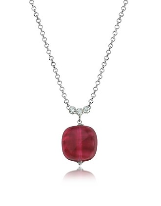 Antica murrina florinda ruby murano glass sterling silver necklace antica murrina mozeypictures Choice Image