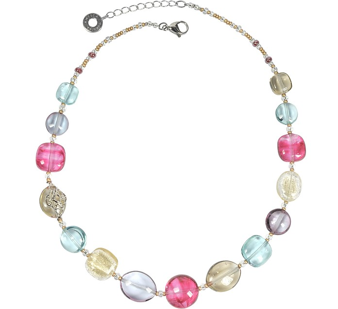 Florinda Transparent Murano Glass Beads Necklace - Antica Murrina