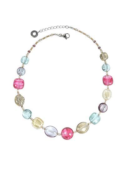 Florinda Transparent Murano Glass Beads Necklace - Antica Murrina