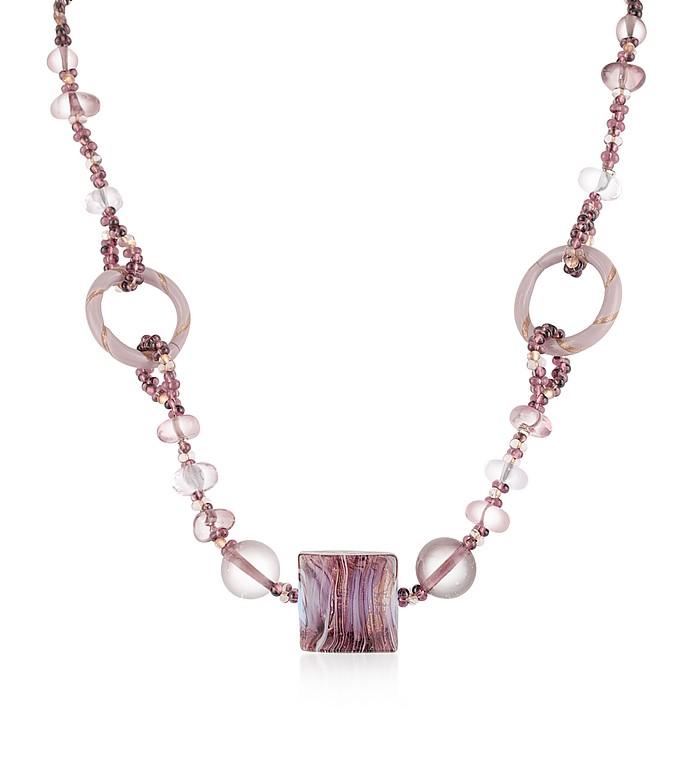 Bolero - Halskette mit Muranoglasanhänger - Antica Murrina Veneziana
