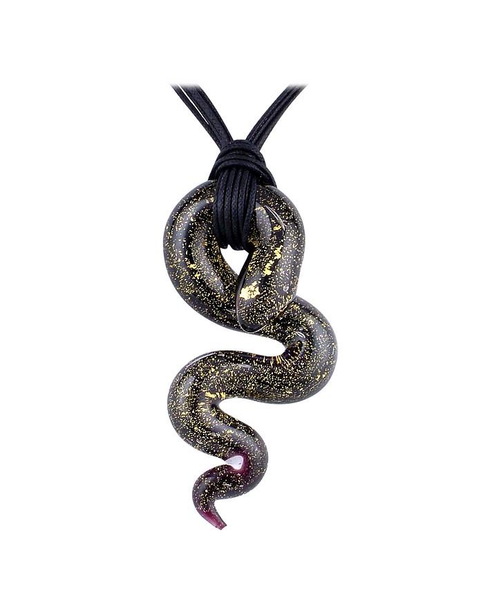 Santiago collana con pendente a serpente in vetro di - Serpente collegare i punti ...
