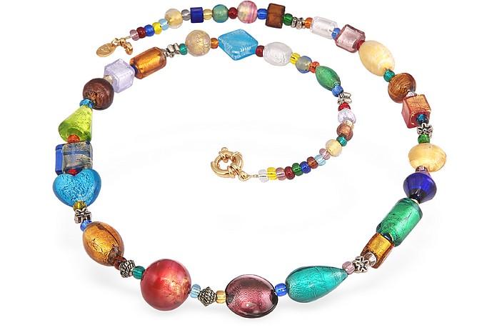 Fanny - Multicolor Murano Glass Bead Necklace - Antica Murrina