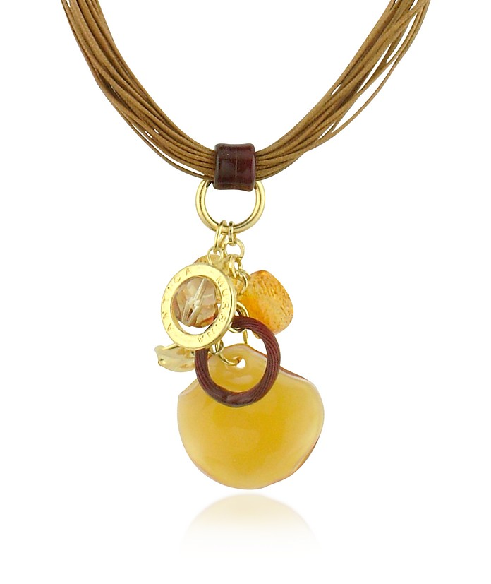 Antica murrina amber kali murano glass charm pendant necklace kali murano glass charm pendant necklace antica murrina mozeypictures Choice Image