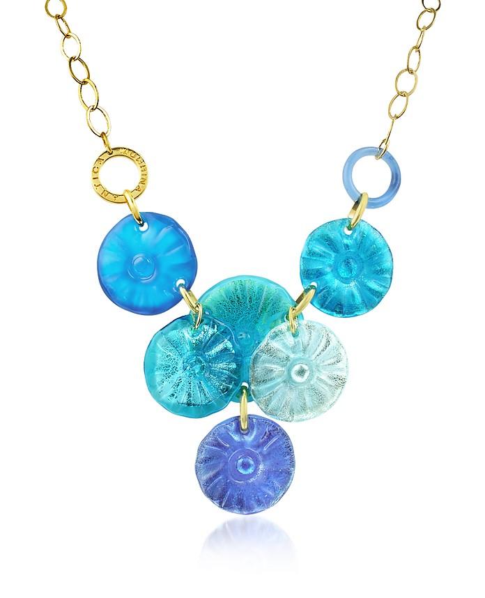 Velvet - Murano Glass Flower Drop Necklace - Antica Murrina