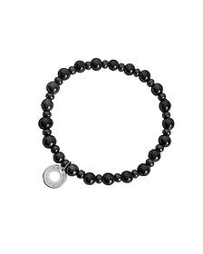 Perleadi Black Murano Glass Beads Bracelet  - Antica Murrina Veneziana