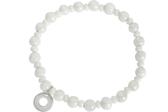 Perleadi White Murano Glass Beads Bracelet - Antica Murrina