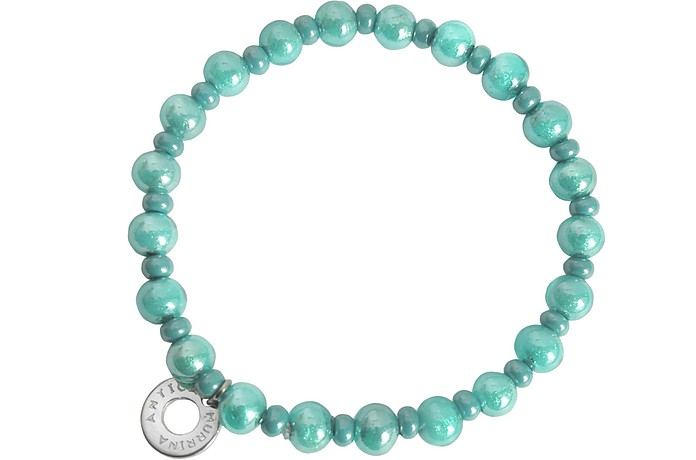 Antica Murrina Perleadi Turquoise Murano Glass Beads Bracelet at ...