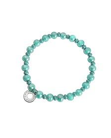Perleadi Turquoise Murano Glass Beads Bracelet - Antica Murrina Veneziana