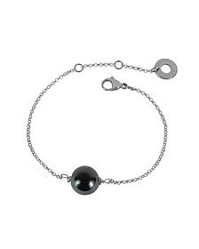Perleadi Black Murano Glass Bead Chain Bracelet - Antica Murrina
