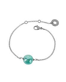 Perleadi Turquoise Murano Glass Bead Chain Bracelet - Antica Murrina