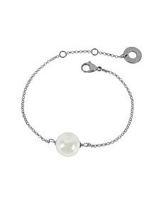 Perleadi Armband aus Muranoglasperlen in weiß - Antica Murrina Veneziana